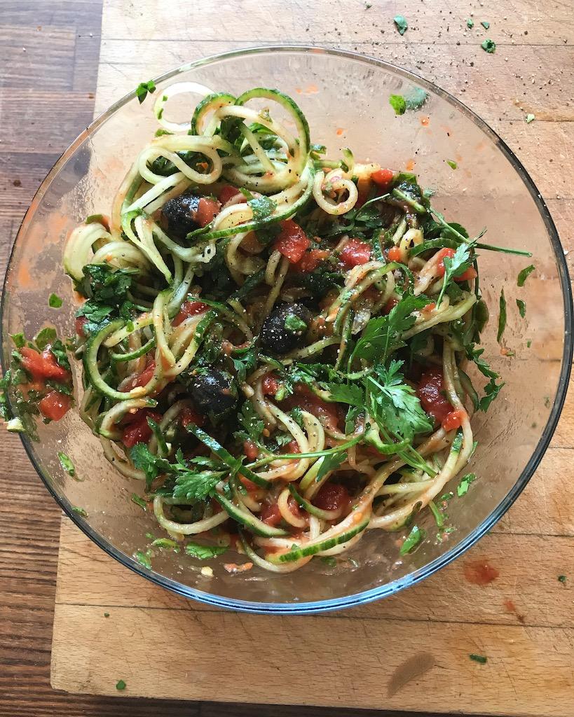 Gazpacho Style Cucumber Noodles Recipe